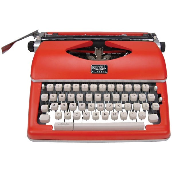 Classic Manual Typewriter (Red)