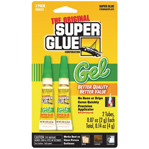 Thick-Gel Super Glue Tube (Double Pack)
