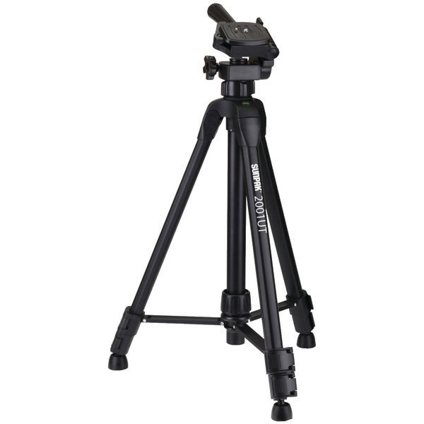 "Tripod with 3-Way Pan Head (Folded height: 18.5""; Extended height: 49""; Weight: 2.3lbs)"