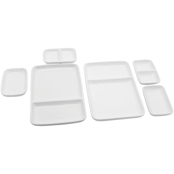 Ceramic Modular Fondue Serving Dishes, 2 Sets
