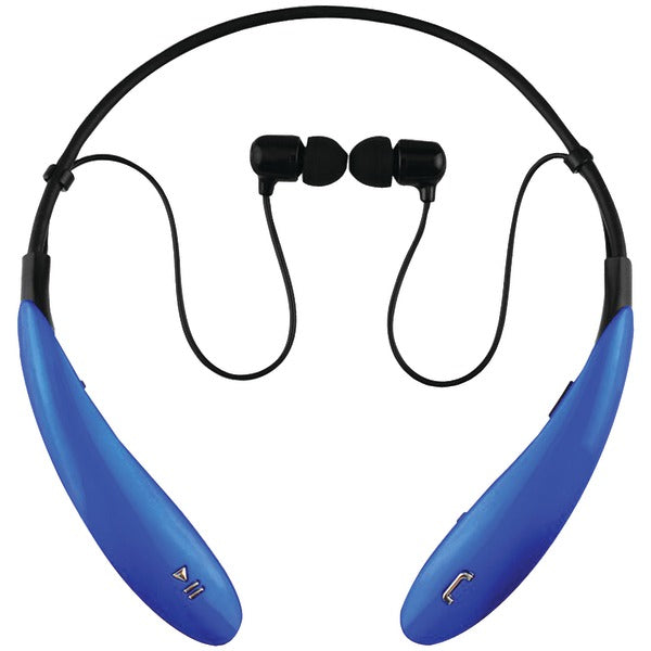 IQ-127 Bluetooth(R) Headphones with Microphone (Blue)