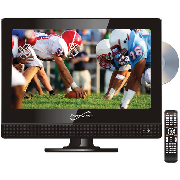 "13.3"" 720p Widescreen LED HDTV-DVD Combination, AC-DC Compatible with RV-Boat"