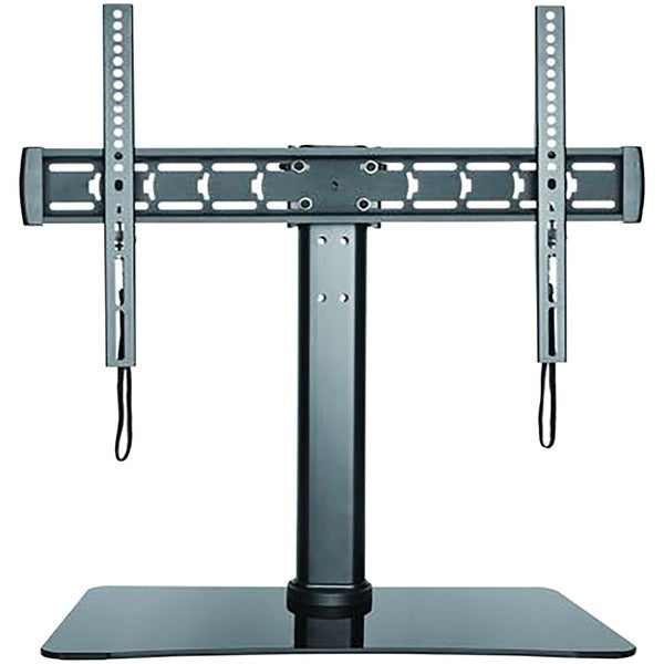 32-Inch to 70-Inch Adjustable Tabletop TV Stand with Glass Base