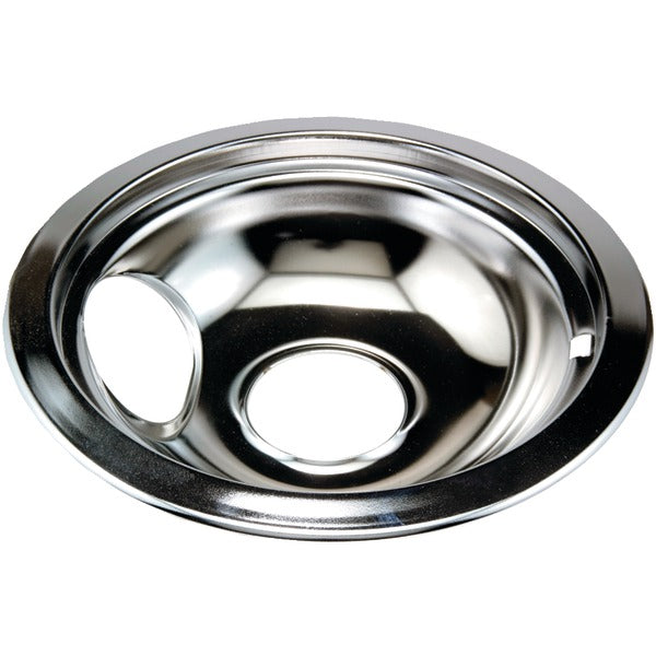 "Chrome Replacement Drip Pan for Whirlpool(R) (6"")"