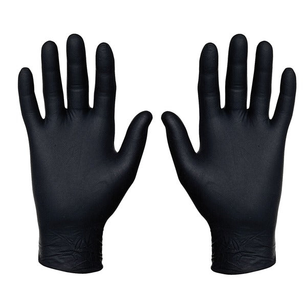 Nitrile Food Service Gloves, 100 Count (Medium, Black)