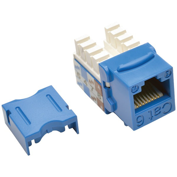 CAT-6-CAT-5E 110-Style Punch-down Keystone Jack (Blue)