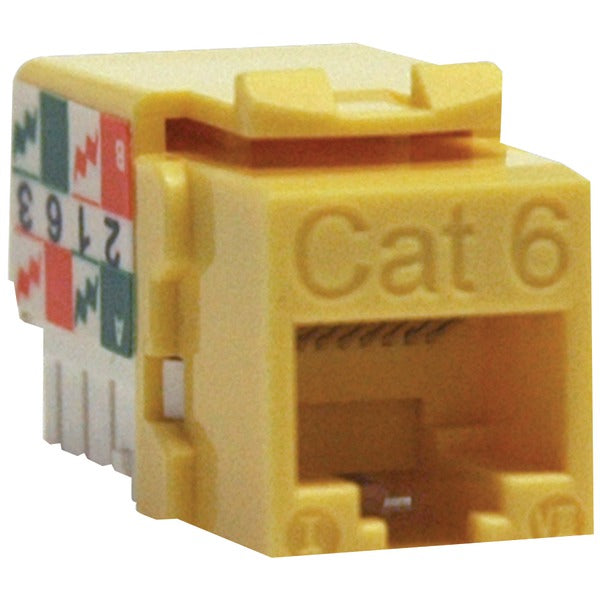 CAT-6-CAT-5E 110-Style Punch-down Keystone Jack (Yellow)