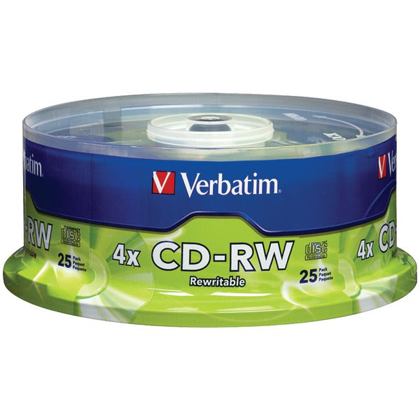 700MB CD-RWs with Branded Surface, 25-ct Spindle