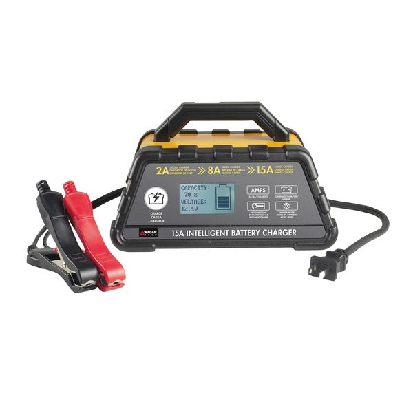 15-Amp Intelligent Battery Charger