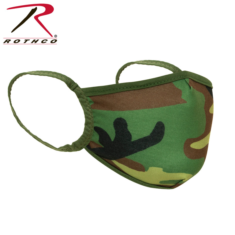 Rothco Camo 3-Layer Polyester Face Mask