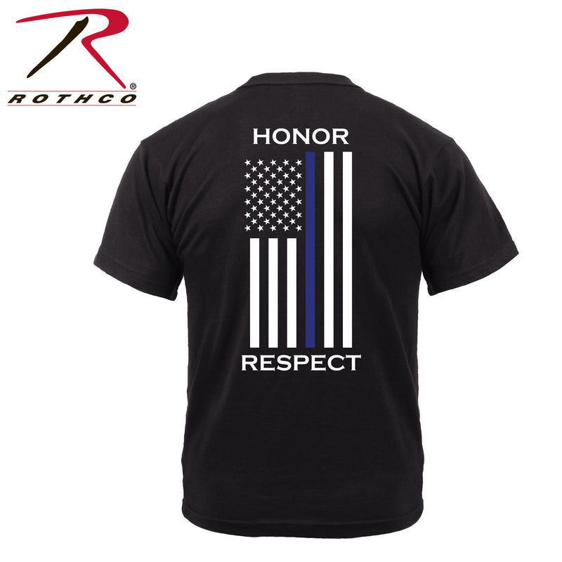 Rothco Honor and Respect 2-Sided T-Shirt - Black