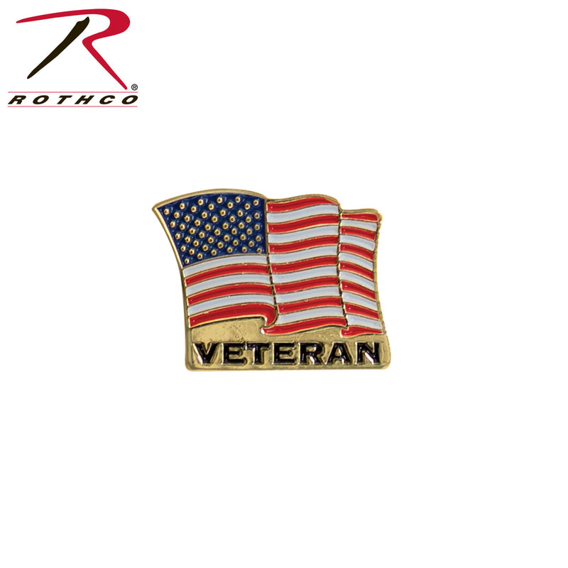 Rothco Veteran US Flag Pin