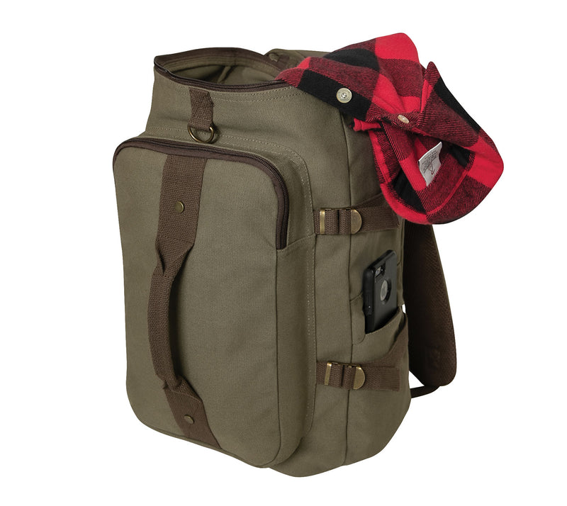"Rothco Convertible 19"" Canvas Duffle / Backpack"