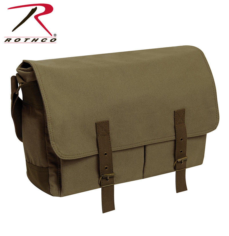 Rothco Deluxe Vintage Canvas Messenger Bag - Olive Drab