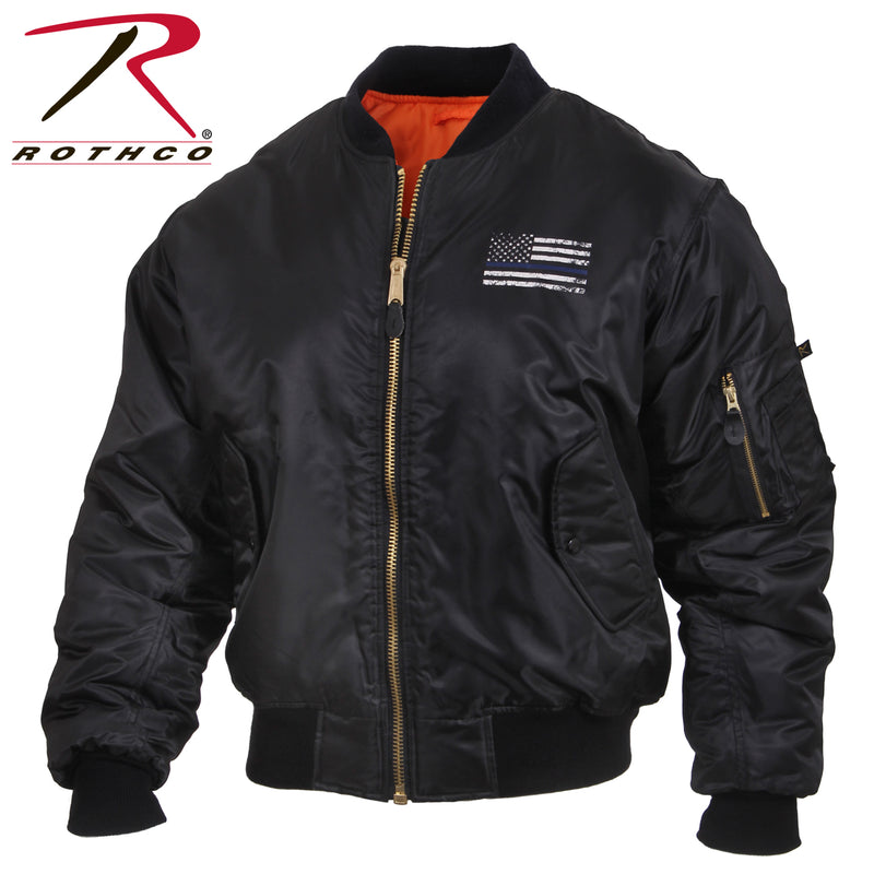 Rothco Thin Blue Line Flag MA-1 Flight Jacket
