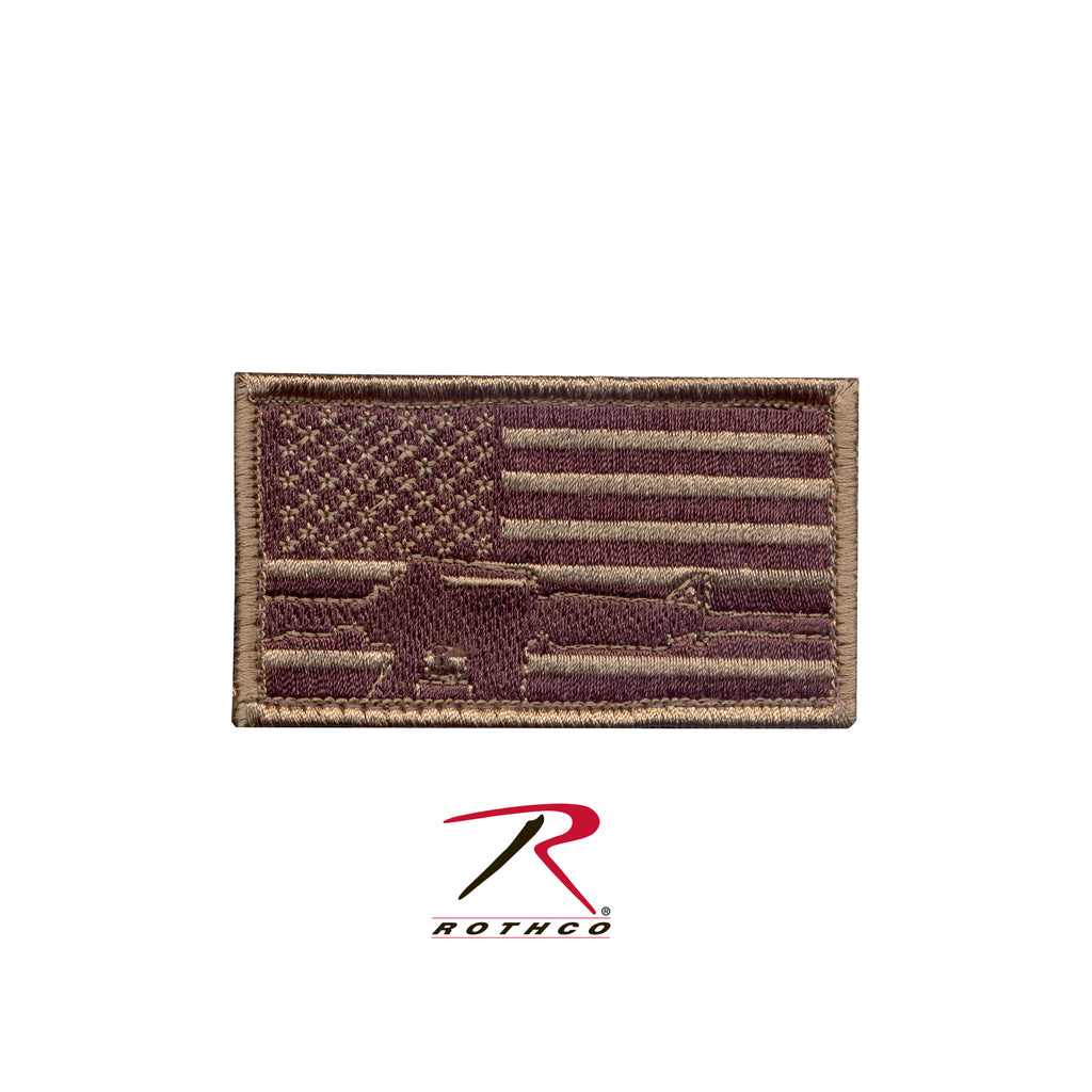 Rothco Subdued Flag & Rifle Morale Patch