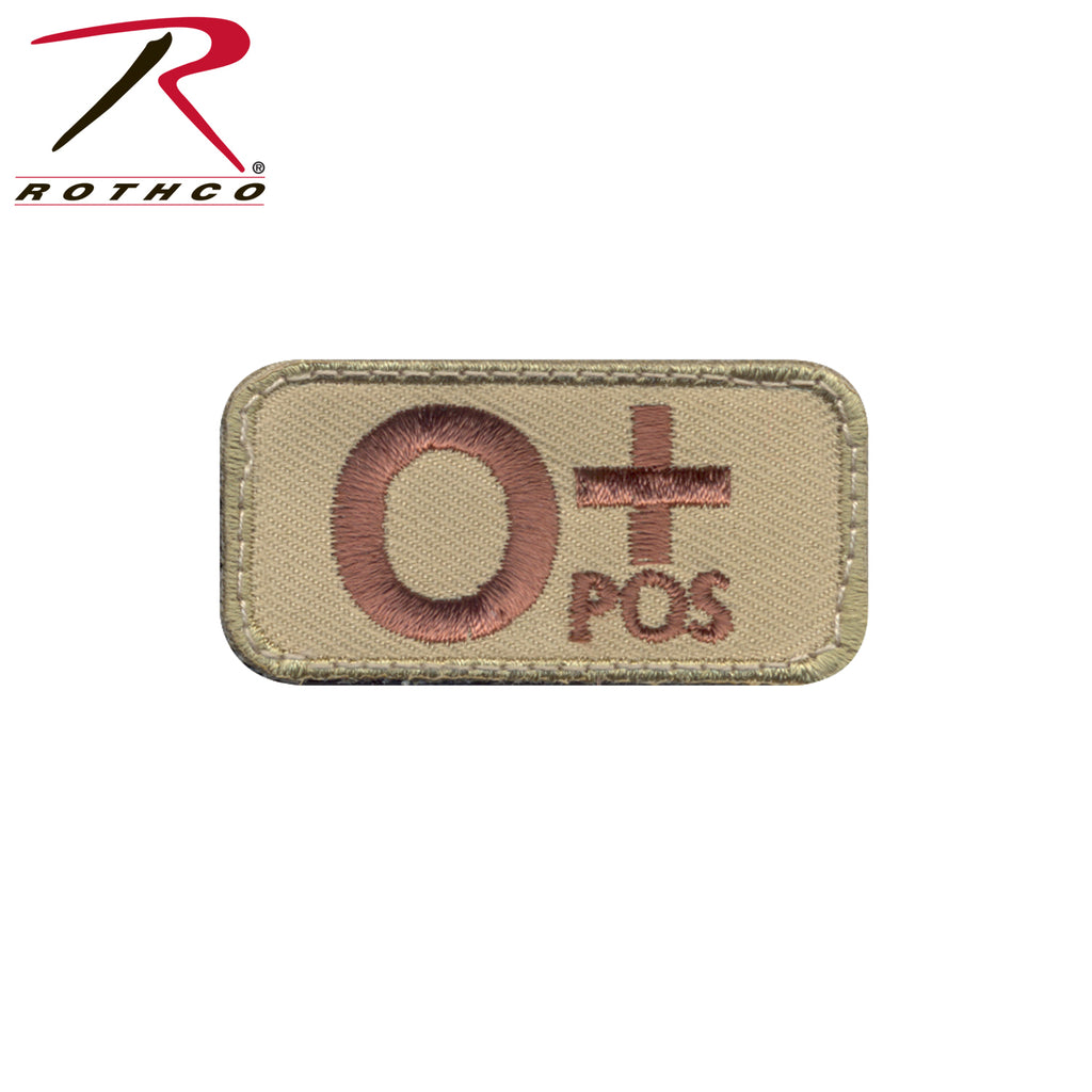 Rothco O Positive Blood Type Morale Patch