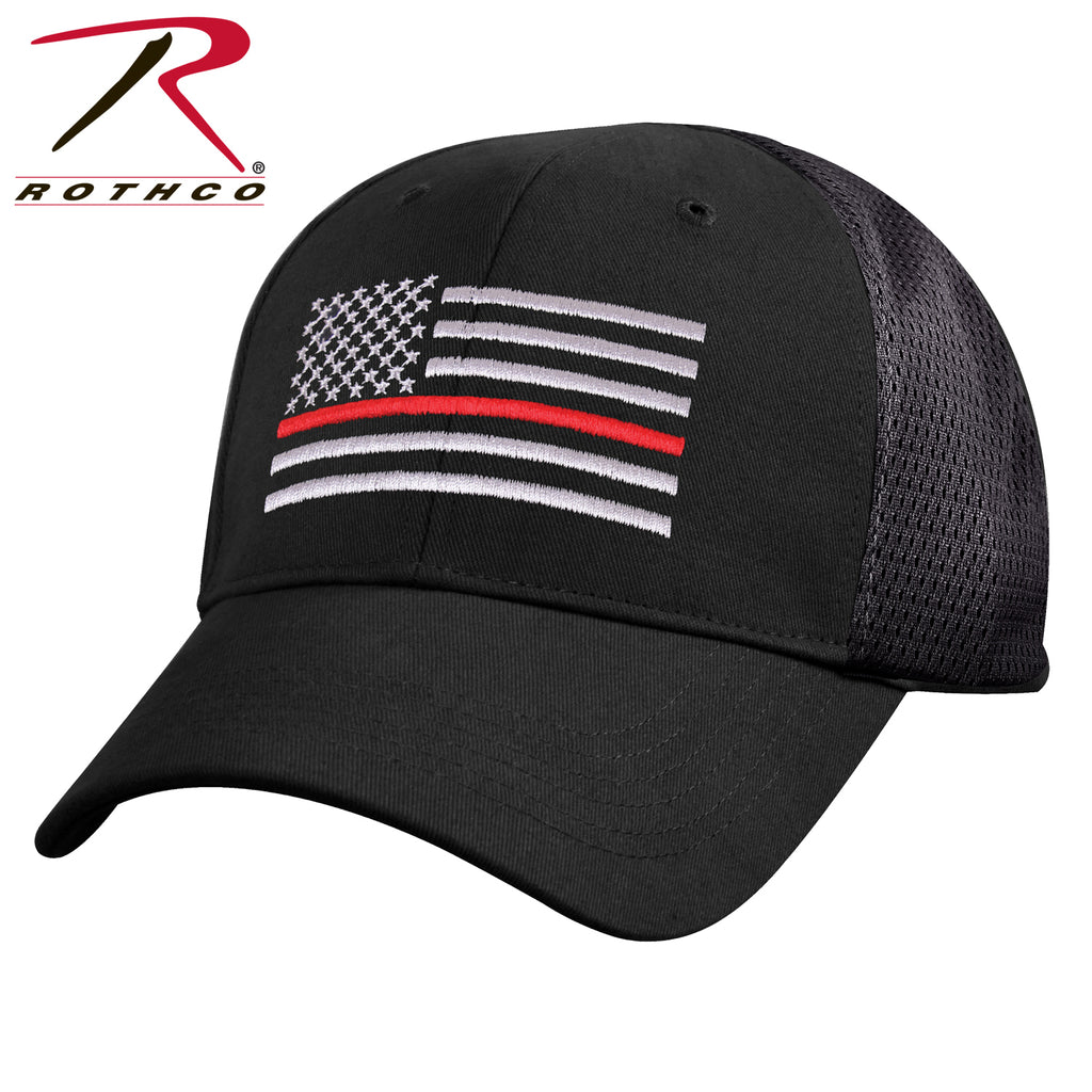Rothco Mesh Back Thin Red Line Tactical Cap - qualityucanafford.com