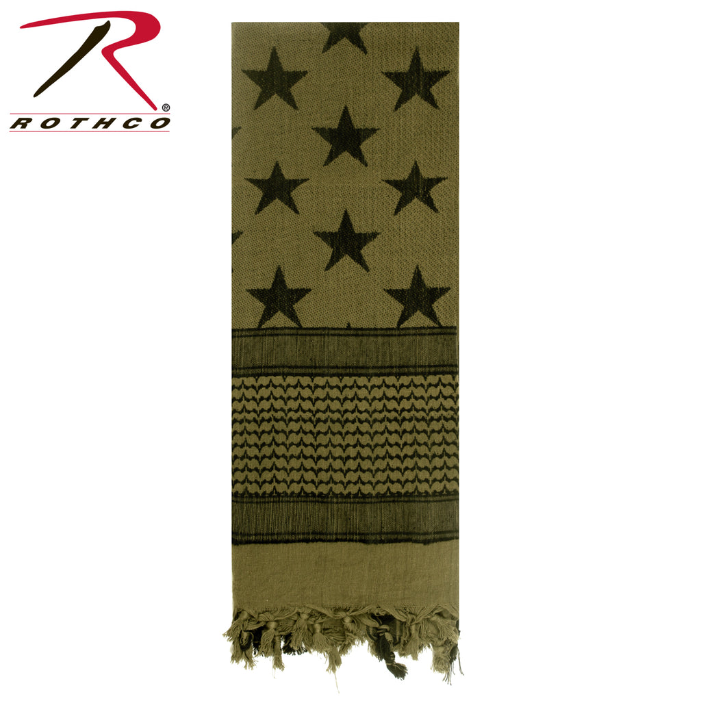Rothco Stars and Stripes US Flag Shemagh Tactical Desert Keffiyeh Scarf