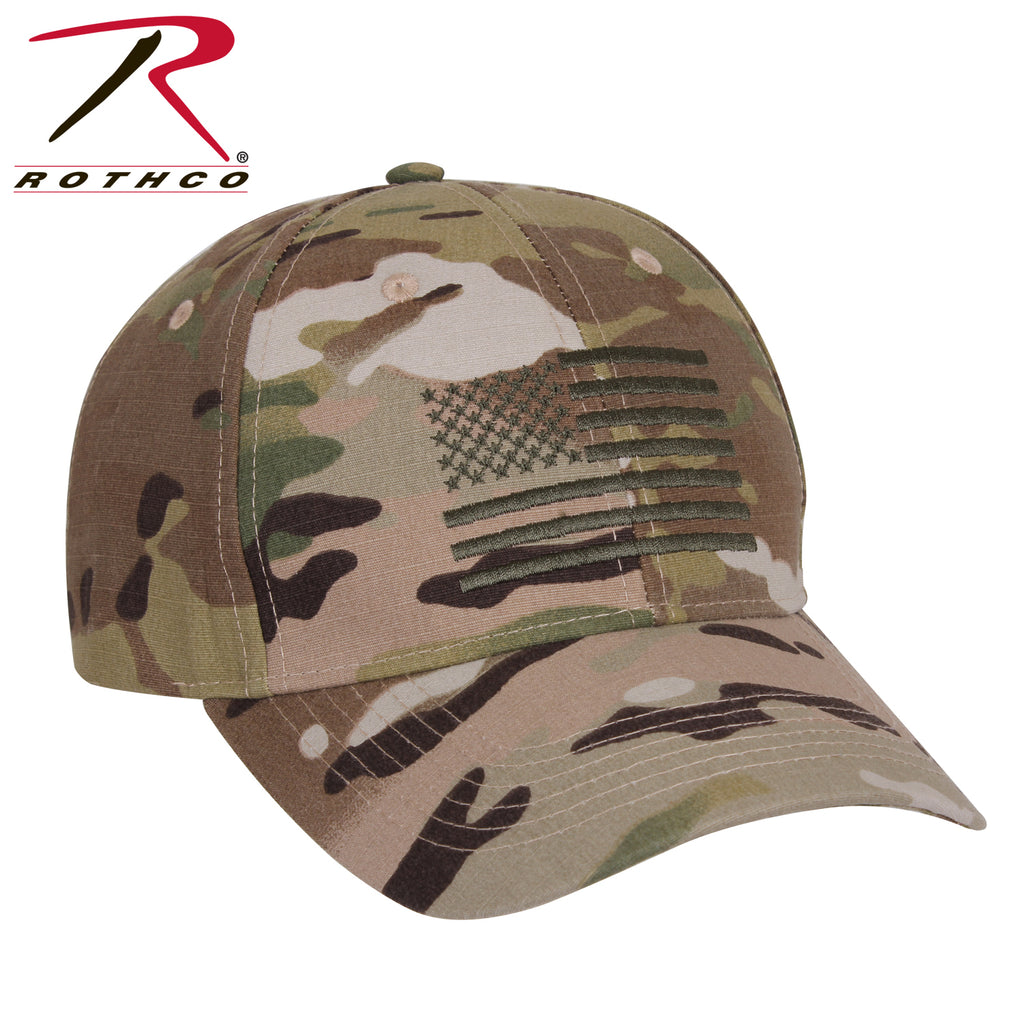 Rothco MultiCam Low Profile Cap With US Flag