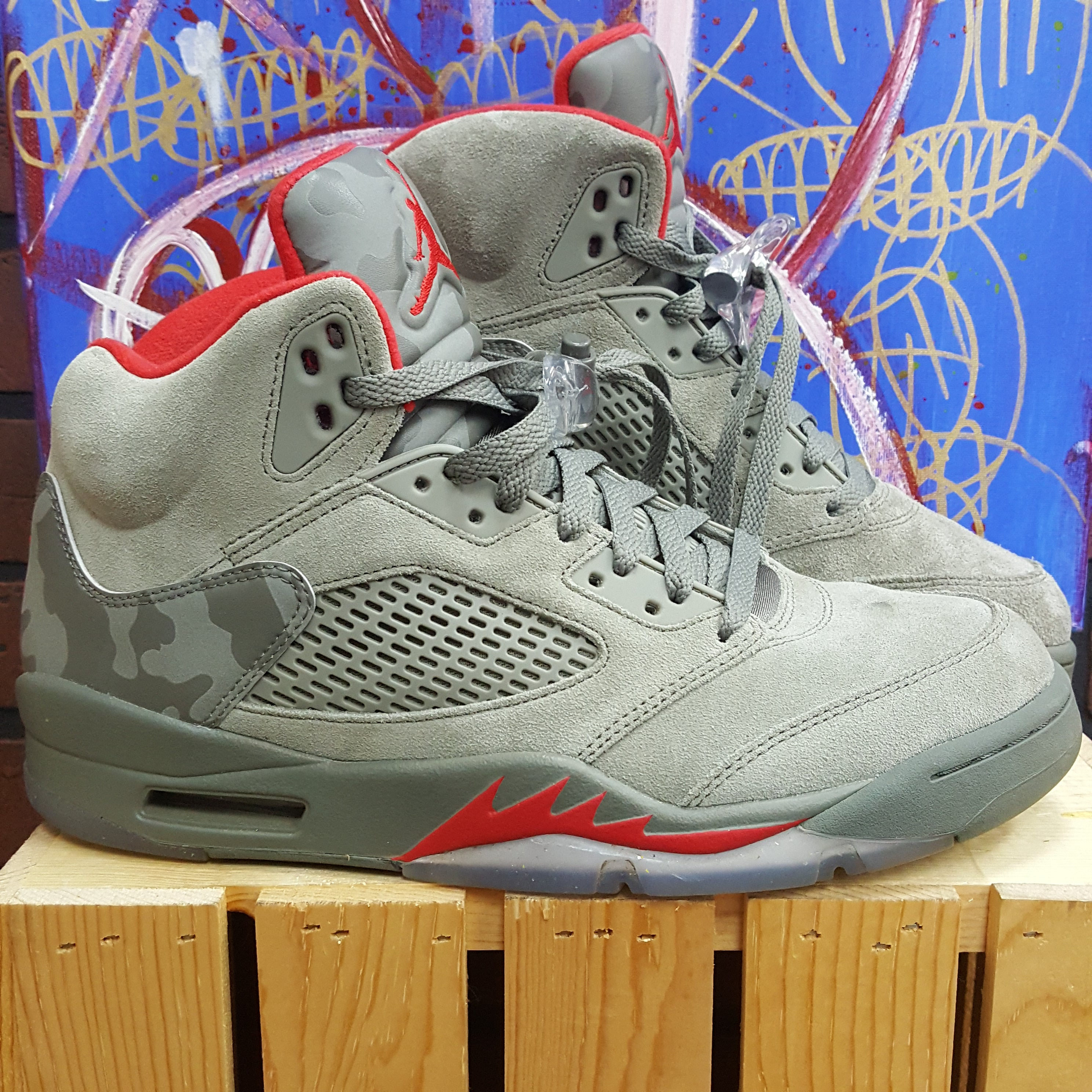 8989bda30aec07 ... coupon code for air jordan 5 camo suede size 9.5 5eea1 47e08