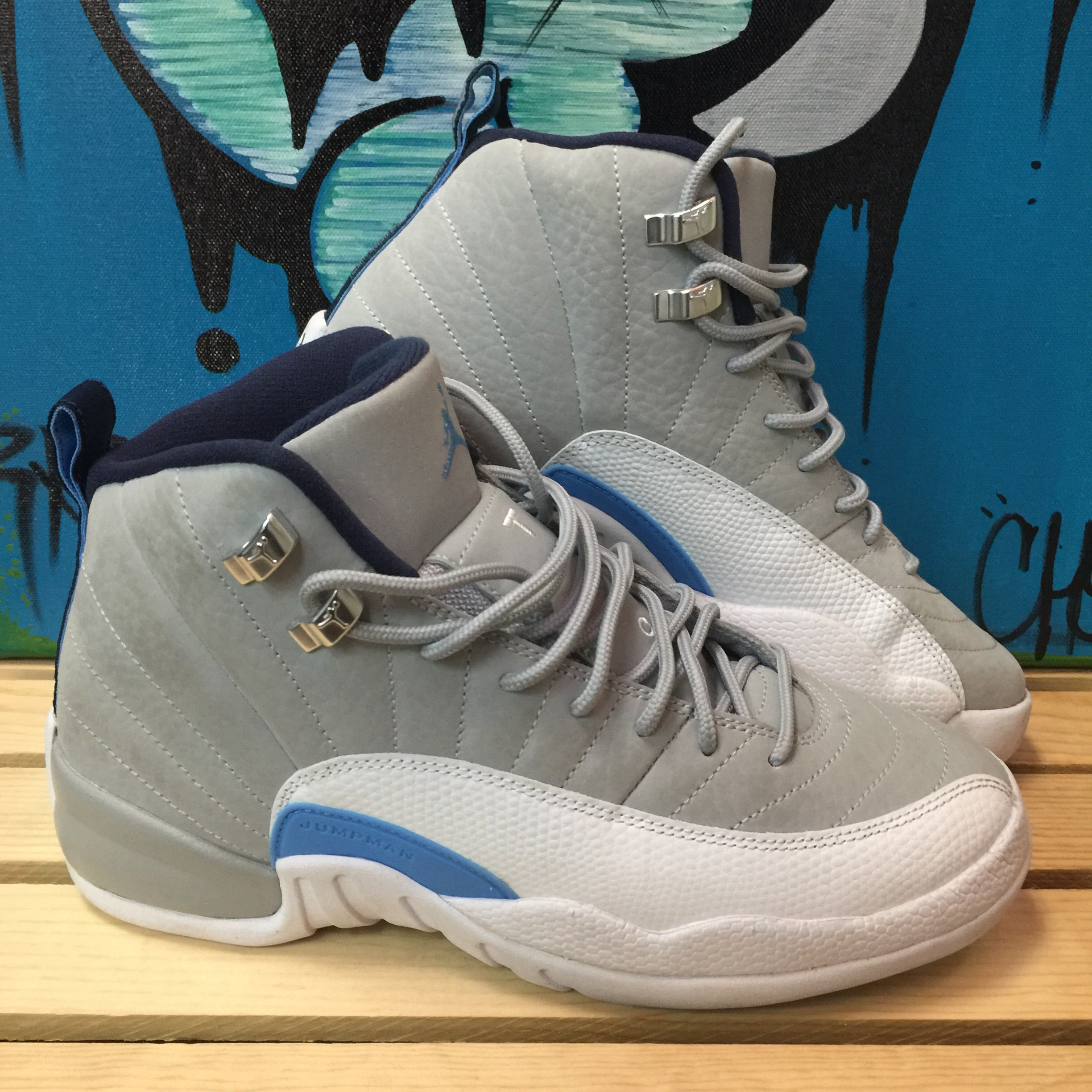 new product 5e756 0a1be Air Jordan Retro 12 University Blue Grey - Size 6.5Y