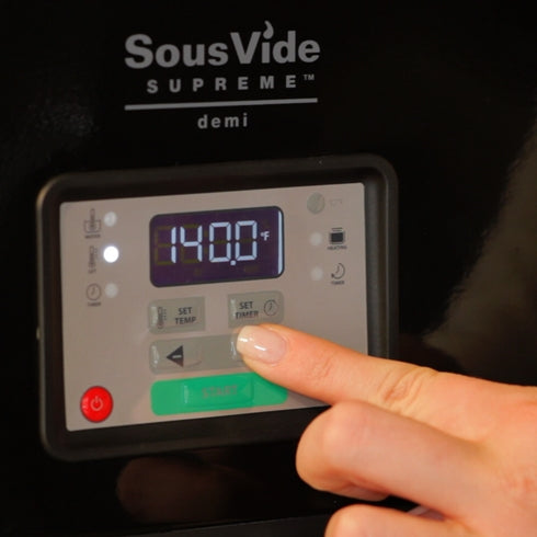 SousVide Supreme Demi Water Oven display and control panel