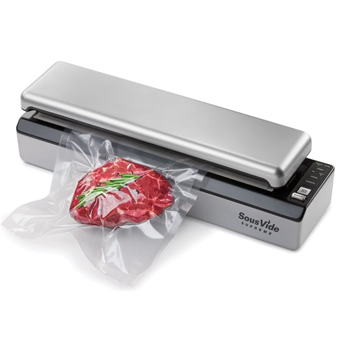 SousVide Supreme Vacuum Sealer VS3000 Sealing Meat In Pouch