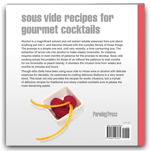 Back cover of Sous Vide Cocktails cookbook
