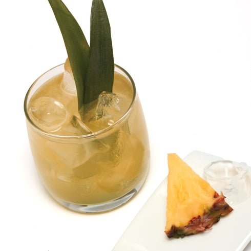 Pineapple cocktail from sous vide cocktails cookbook