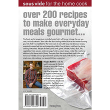 SousVide for the Home Cook - Cookbook Back Cover