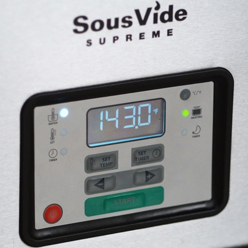 Close up of SousVide Supreme Stainless Steel Water Oven display and control panel