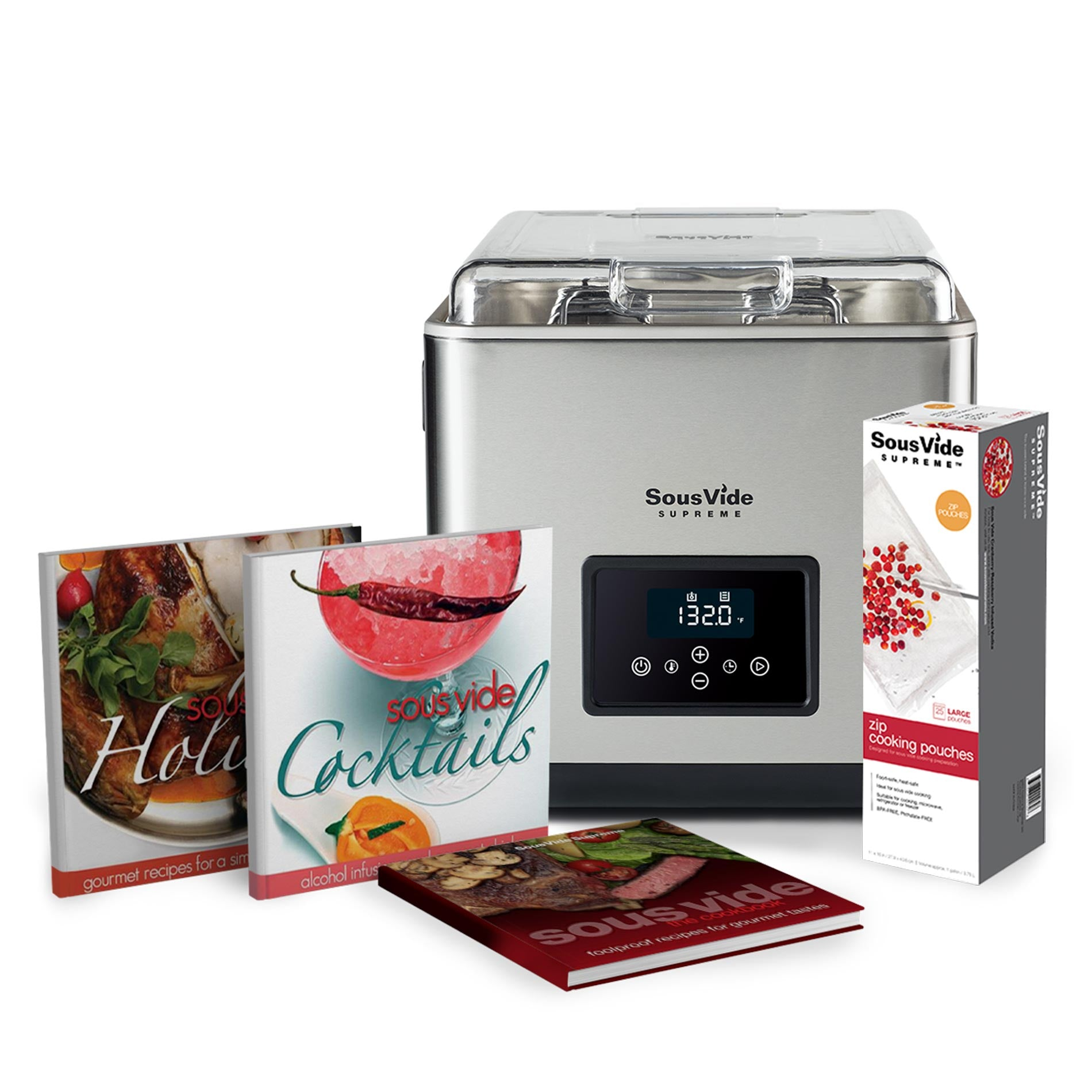 SousVide Supreme 11 Liter Touch+ Holiday Promo Pack