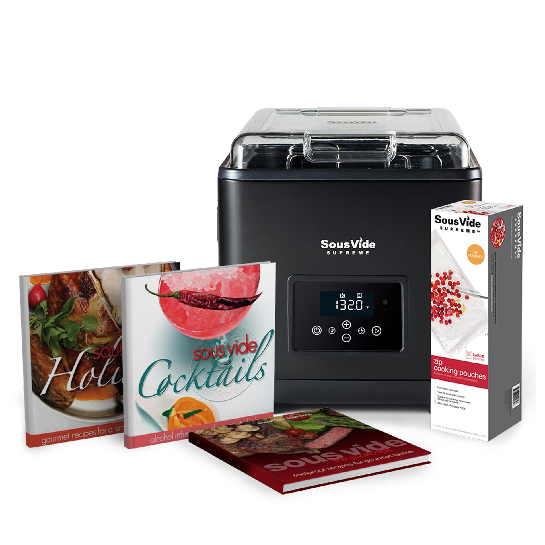 SousVide Supreme 9 Liter Touch Holiday Promo Pack