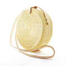 Bohemian Round Bag in White