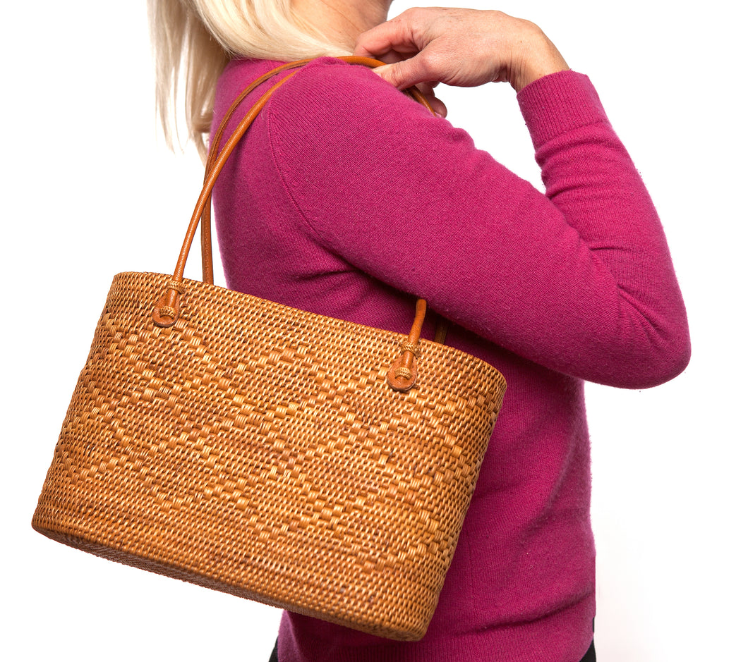 Block Island Purse - Diamond Pattern