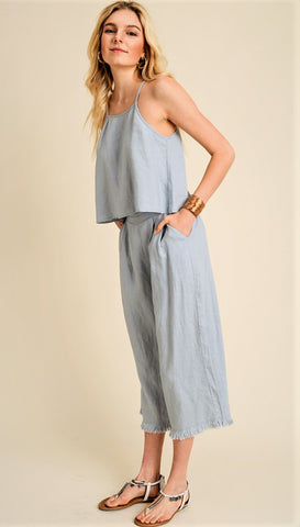 Sleeveless Embroidered Jumpsuit