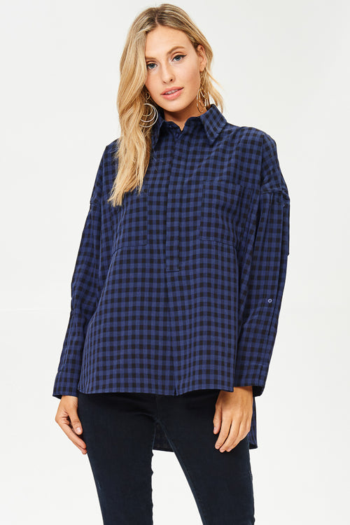 Check Plaid Top(JT829)