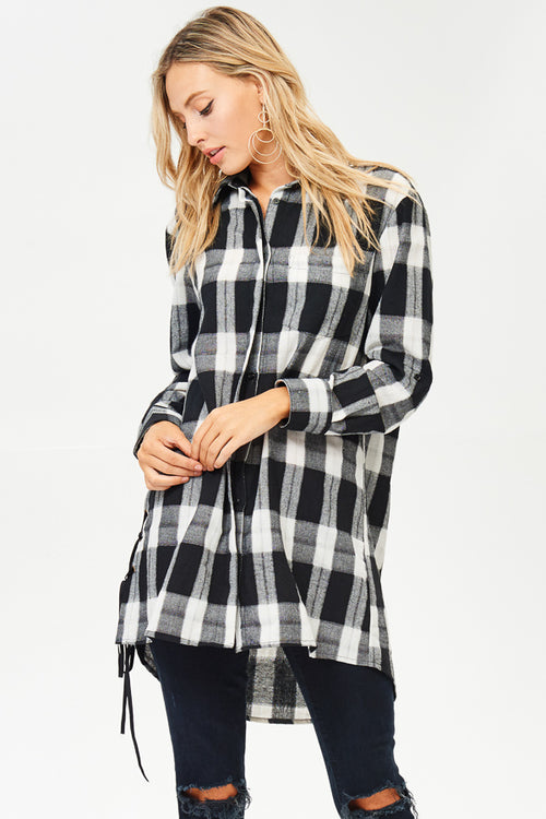 Long Sleeve Checked Flannel(JT877)