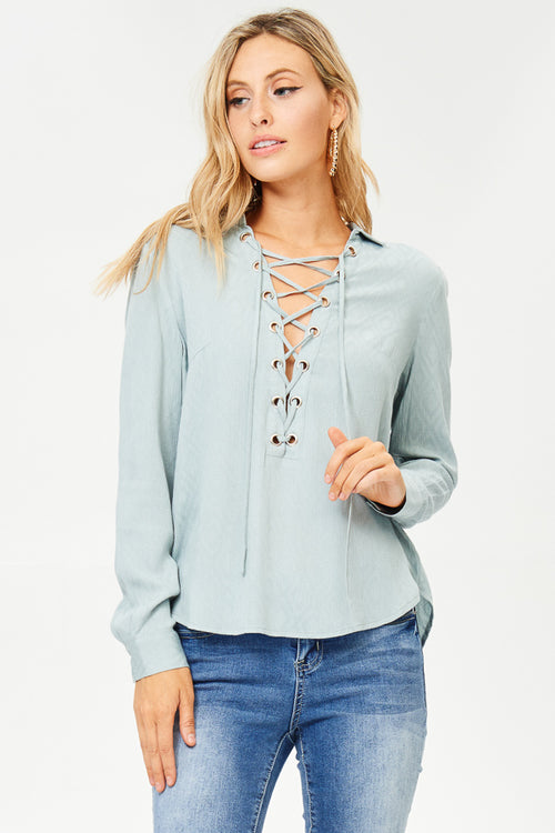 Front Lace-up Top(JT817)