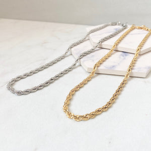 Marina Rope Chain Necklace | Wide