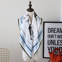 Silk-Twill Square Scarf with classic print