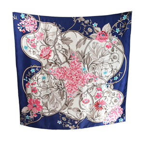 Floral Patchwork Silk Square Scarf