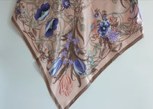 Tulip themed Silk Square Scarf