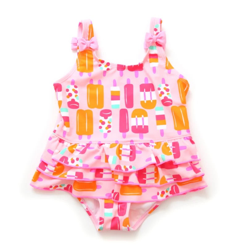 Popsicle Swimsuit with Bows