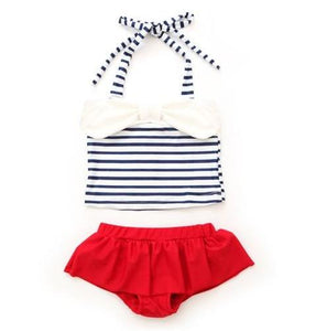Stripe Bikini with Bow