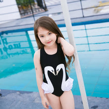 Swan Swimsuit with Ruffles
