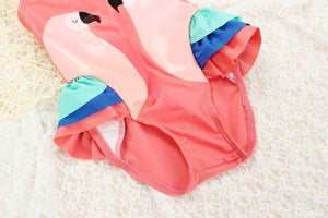 Parrot Swimsuit with Ruffles