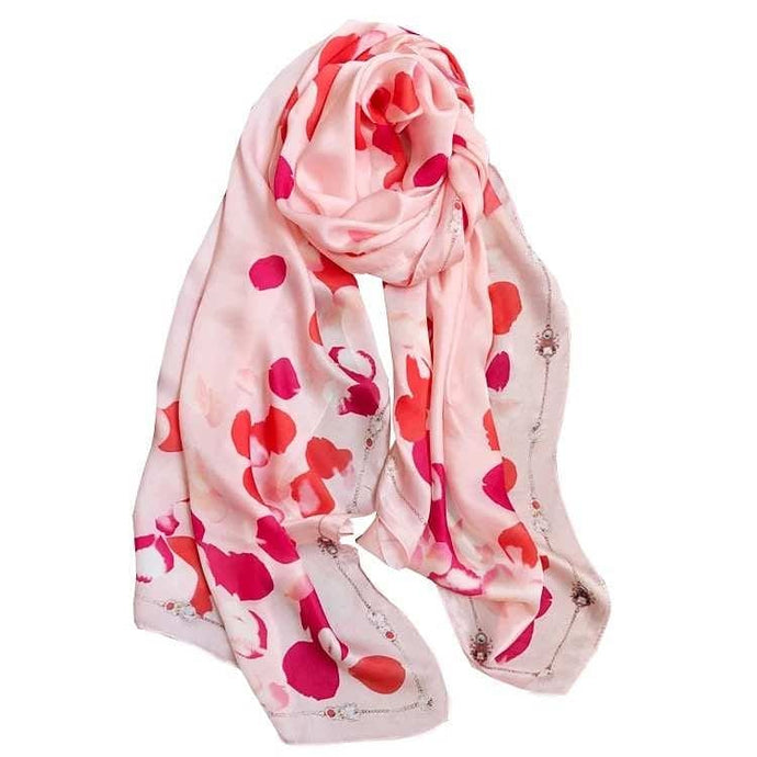 Green Scarf Boutique pink silk scarf.