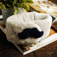 Green Scarf Boutique fleece moustache kid's neck warmer.